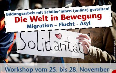 """Multi-Weiterbildung: Projekttagskonzept """"Migration, Flucht & Asyl"""" (online & präsenz)"""
