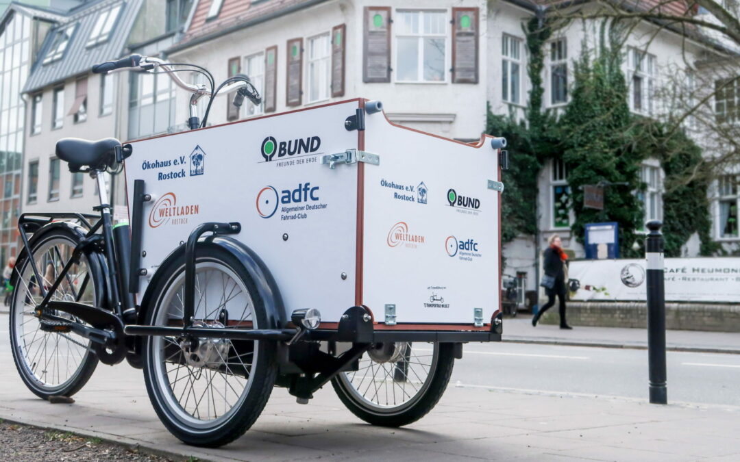 E-Lastenrad ausleihen in der Ökovilla