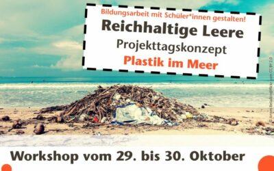 """Titelgrafik Weiterbildung """"Plastik im Meer"""""""