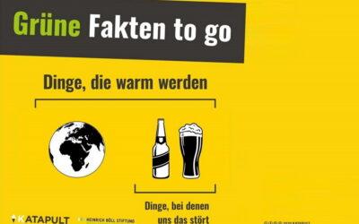Grüne Fakten To Go - Ausstellung von KATAPULT